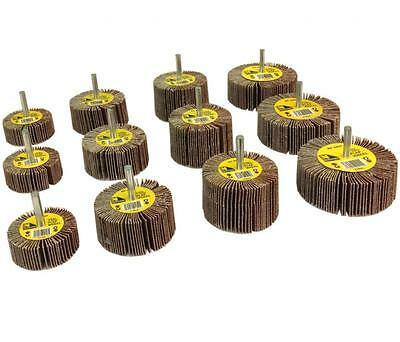 12 Assorted Sanding Flap wheels for drills - sanding grinding mop wheel discs
