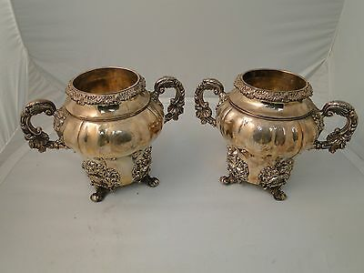 Wine Coolers/ Ice Buckets Silver Plated Old Sheffield 1800 Antique Class & Style