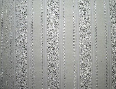 Wide Decorative Stripe Texture Paintable Wallpaper by Brewster   FD59003