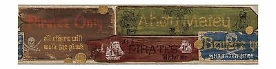 The Signs of the Pirate / Pirates Wallpaper Border ZB3112BD