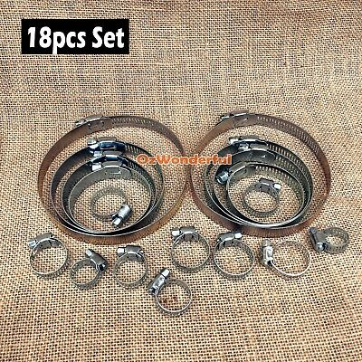 16 pcs Hose Clamps 6mm to 38mm Quality  Hose Clamp Paccaya
