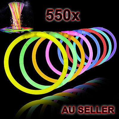 New 550 Mixed Colour Glow Sticks Bracelets Light Party Glowsticks Glow in dark