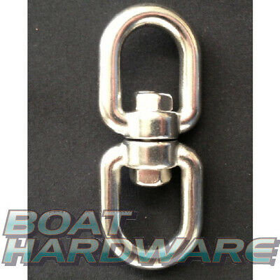 Chain Swivel 6mm Double Eye 316 Stainless Steel ideal for sea anchor drouge NEW