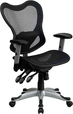 Flash Furniture Mid-Back Black Mesh Executive Swivel Office Chair with...