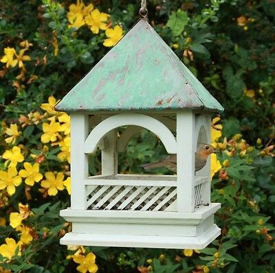BEMPTON HANGING BIRD TABLE Wildlife World Green Wood Gift | FREE Fast Delivery!