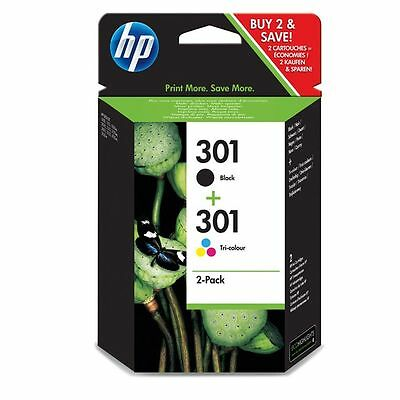 Hp 301 Pack 2 Cartuchos (Negro + Color) Tinta Original N9J72Ae