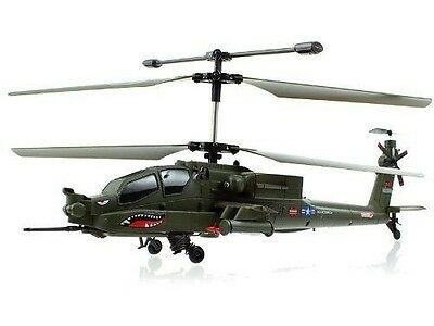 Genuine Syma S113G 3.5 Channel Gyro Apache Military Coaxial RC Helicopter USA