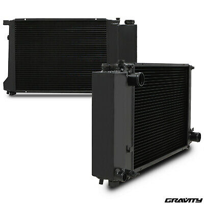 40MM BLACK ALLOY RADIATOR RAD FOR BMW 3 5 SERIES E30 E36 E34 318i 320i 325i