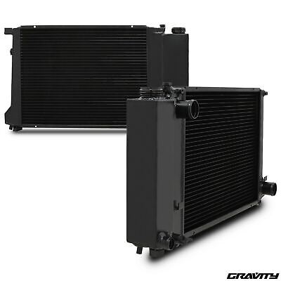 45MM BLACK ALLOY RADIATOR RAD FOR BMW 3 5 SERIES E30 E36 E34 318i 320i 325i