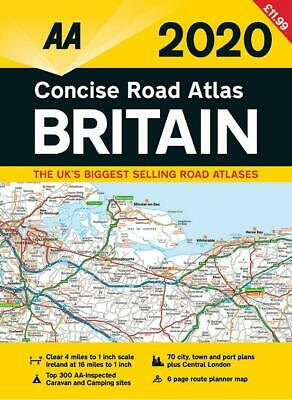 AA 2019 Concise Road Atlas Britain Spiral Bound (Road Map)