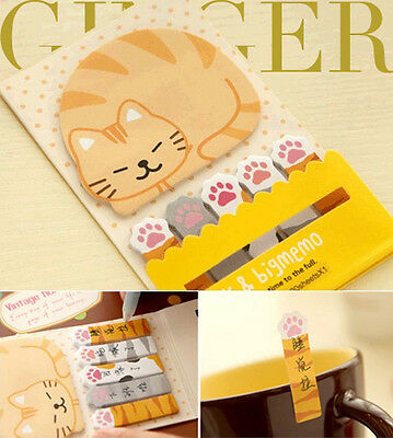 Cat Paw Sticker Post It Bookmark Marker Memoi Index NotePad Sticky Notes  (AB05)