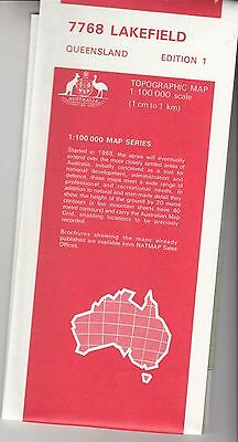 Lakefield (QLD)  7768  1:100,000 NATMAP  topographic map brand new