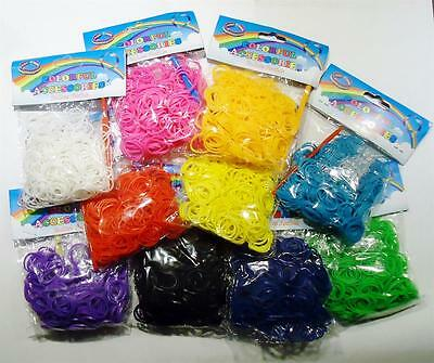 New 300Pcs Colourful Rainbow Rubber Loom Bands Bracelet Making Set With Hook