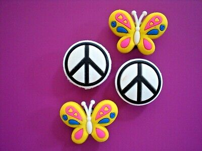 Garden Clog Charm Plug Pin Accessories Sandal Wristbands Butterfly Peace Sign