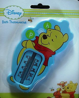 Winnie The Pooh Baby Bath Thermometer Water Temperature Safety Bath Time BLUE