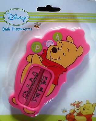 Winnie The Pooh Baby Bath Thermometer Water Temperature Safety Bath Time PINK
