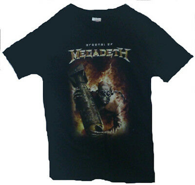 MEGADETH,Arsenal-heavy metal rock licensed merchandising band t-shirt,size S