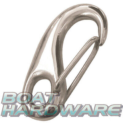 Spring Gate Snap 316 Marine Stainless Steel 50mm Boat Yacht Deck Hardware DIY