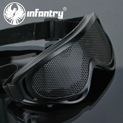 INFANTRY Tactical Military Airsoft Goggle Metal Mesh Shooting Eyes Glasses Mask