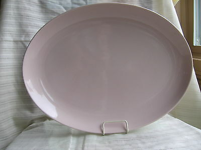 """Vtg IROQUOIS MID CENTURY CHINA Pink Sherbet RUSSEL WRIGHT 14"""" oval platter"""