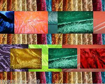 Top Quality Crushed Velvet Fabric Craft Stretch Velour 150 cm Wide Material