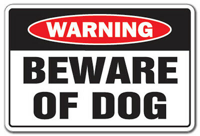 BEWARE OF DOG Warning Sign dog pet parking pit bull signs security guard dog