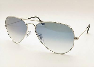 Ray Ban 3025 003/3F Silver Blue Gradient New 100% Authentic Italy