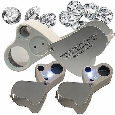 New 30X 60X Magnifier Jewelry Magnifier Magnifying Glass Loupe Loop SHIP FROM US