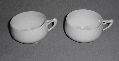 Vintage Alice JHR Hutschenreuther Selb Bavaria Tea/Coffee Cups White Set of  2*