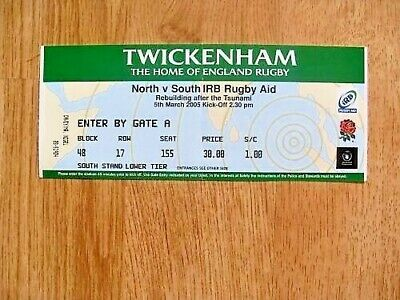 North v South 2005 Used Rugby Ticket