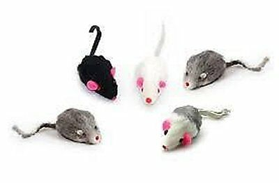 CATNIP MOUSE CAT TOY (x5) - CAT MINT - KITTEN - HIGHLY FRAGRANT