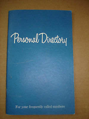 Vintage PACIFIC TELEPHONE Personal Directory Address Book Bell South