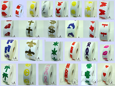 3 Rolls of Tanning Bed Stickers of Your Choice Tanning Tattoo Sticker Tantoo