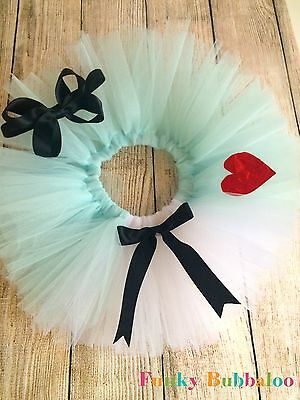 Alice in Wonderland Baby & Girls Tutu & Headband Birthday Photo Shoot Cake Smash