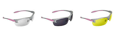 Radians Women's Pink Shooting Glasses Safety Eye Care Ladies Protection Gear