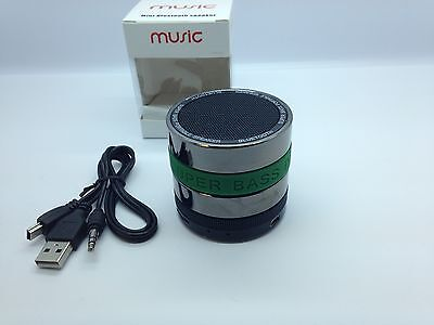 Lot Of 5 New Round Bluetooth Speaker Portable Stereo Wireless Universal Green