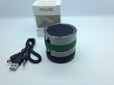 Lot Of 3 New Round Bluetooth Speaker Portable Stereo Wireless Universal Green