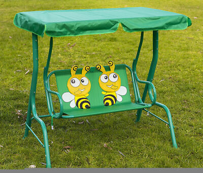 Kids Swing Chair Bee Pattern Canopy Chair Hanging Chair Children Seat