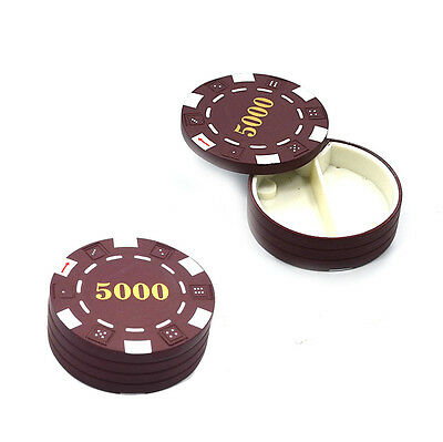 1 Brown Diversion Safe Poker Chip Hidden Pill Stash Can Container Free Shipping