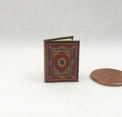 MEDIEVAL Illuminated BOOK of HOURS Miniature BOOK Dollhouse 1:12 SCALE Latin