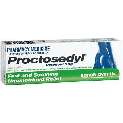 Proctosedyl Ointment 30G Fast And Soothing Haemorrhoid Relief Itching Swelling