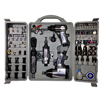 New 71 Piece Air Tool And Accessory Kit - Impact Wrench Ratchet