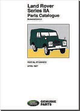 Range Rover Classic Parts Catalogue 1970 to 1985 RTC9846CH