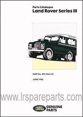 Land Rover Series 3 Parts Catalogue RTC9841CE
