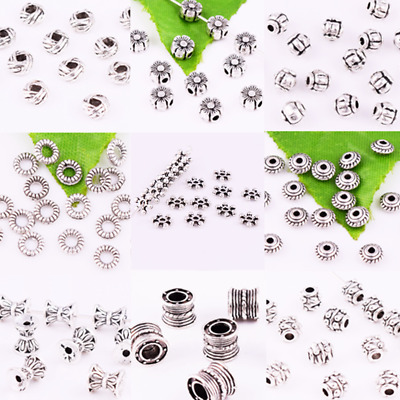 Tibet Silver Loosd Spacer Beads Charm Jewelry Design Making Find, Various sizes