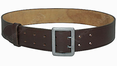 WW2 German Army Heer BROWN LEATHER OFFICERS BELT with CLAW BUCKLE - All Sizes