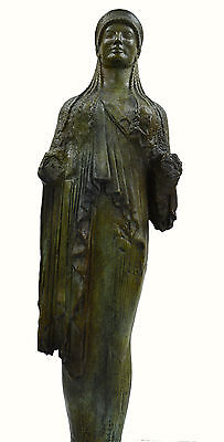 Caryatid Caryatis Kore Ancient Greek aged Great statue bronze sculpture artifact