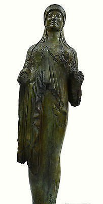 Caryatid Caryatis Kore bronze Ancient Greek aged Great statue sculpture artifact