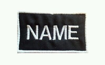 Custom Embroidered Name Patch Iron On 2 X 4