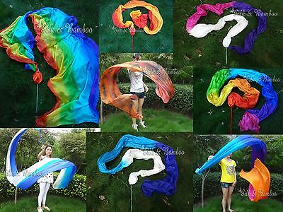 various designs, 1pc 4m*0.9m silk dance throw streamer, light, strong&stitched